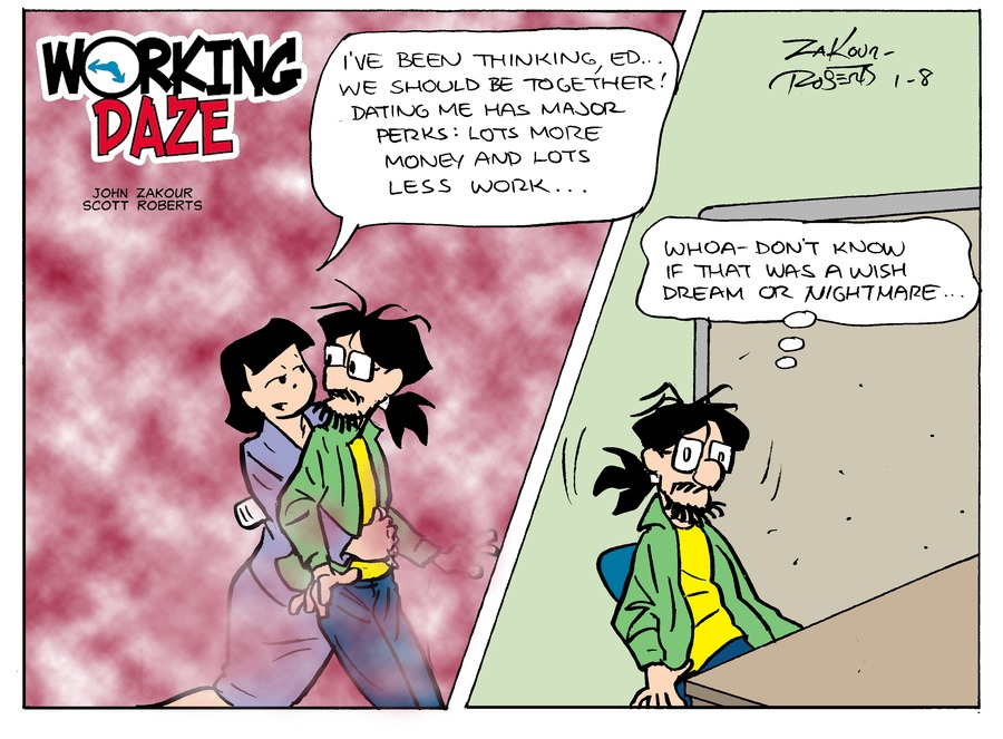 Working Daze Comic Strip for January 08, 2017