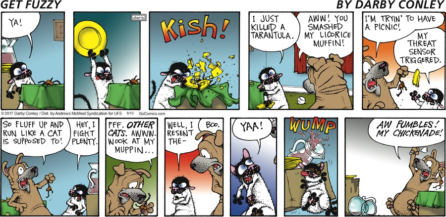 Get Fuzzy for Aug 13, 2017 Comic Strip