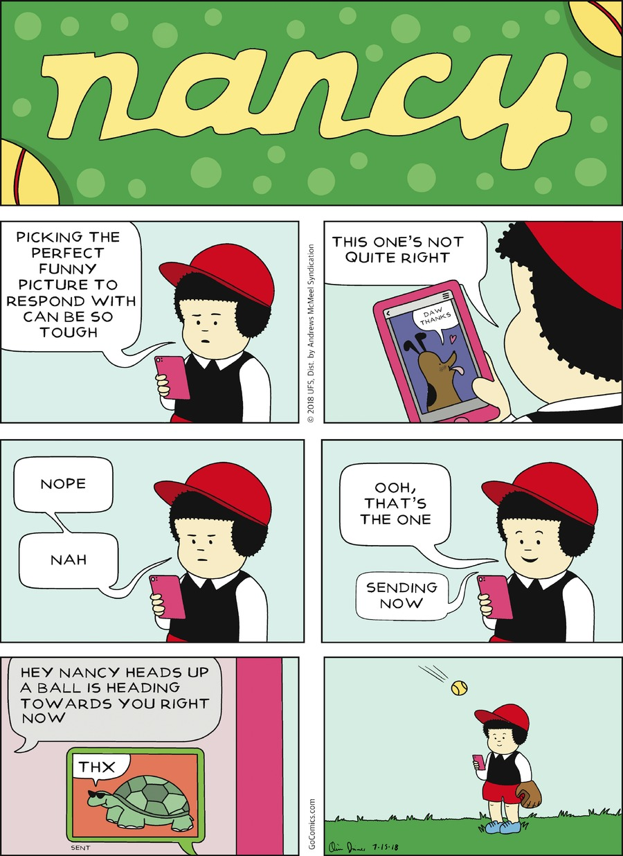 Nancy Comic Strip for July 15, 2018