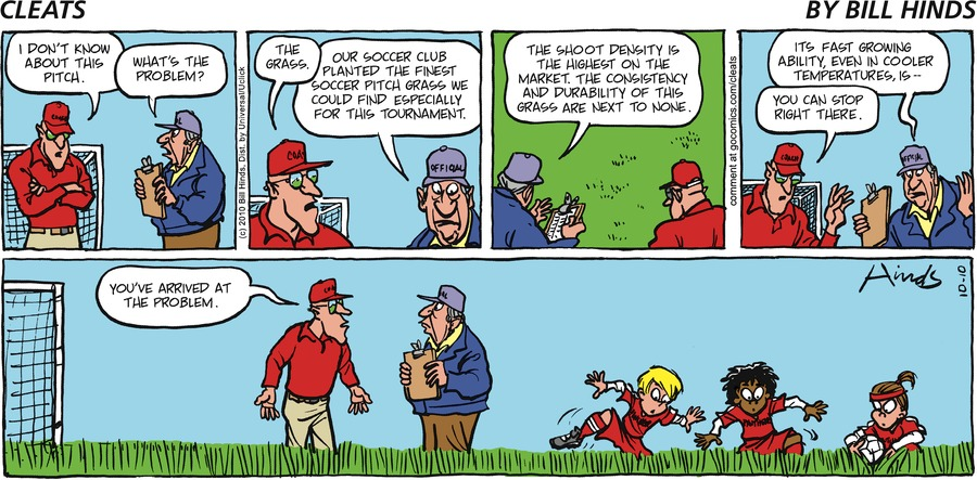 Cleats Comic Strip for October 13, 2019