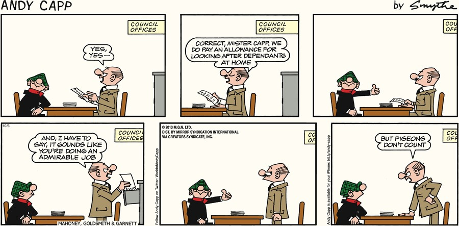 Andy Capp Comic Strip for October 06, 2013