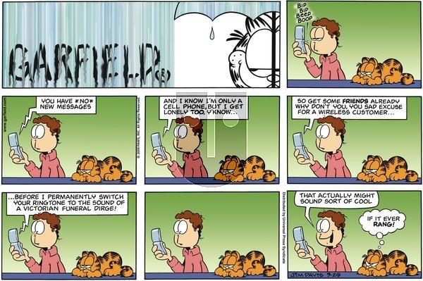 Garfield on Sunday March 29, 2009 Comic Strip