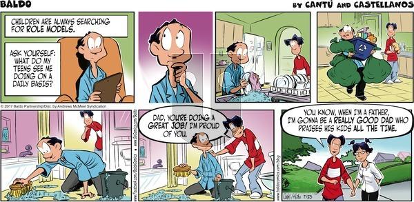 Baldo on Sunday July 23, 2017 Comic Strip