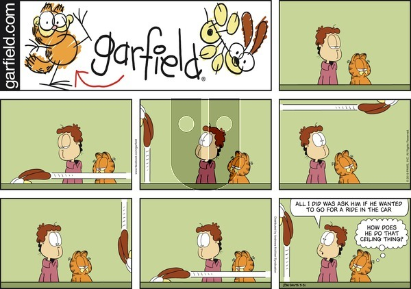 Garfield on Sunday March 31, 2019 Comic Strip