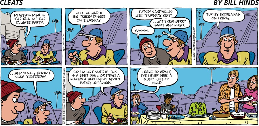 Cleats Comic Strip for November 26, 2006