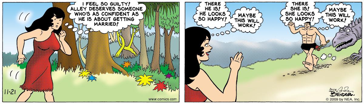 Alley Oop for Nov 21, 2009 Comic Strip