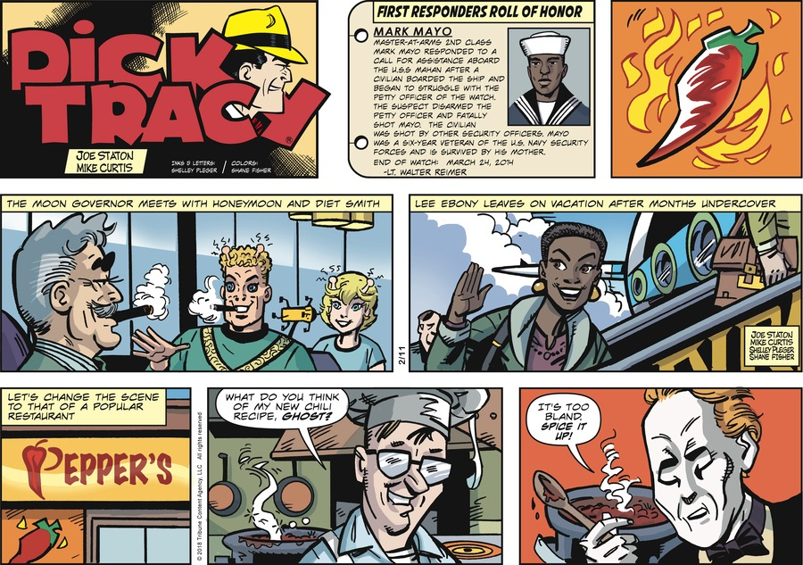 Dick Tracy Comic Strip for February 11, 2018