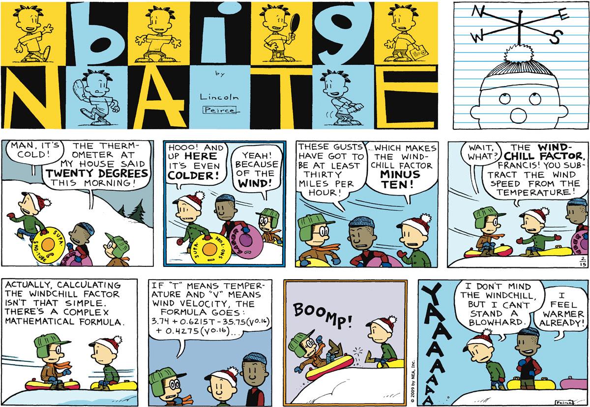 Big Nate Comic Strip for February 15, 2009