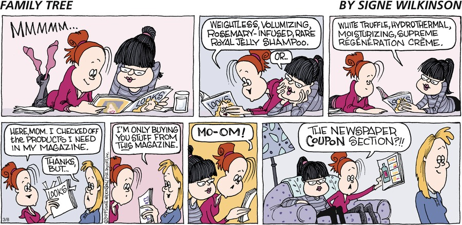 Family Tree Comic Strip for March 08, 2009