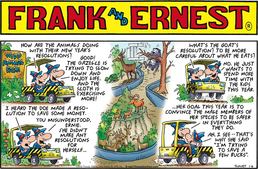 Frank and Ernest Comic Strip for January 06, 2013
