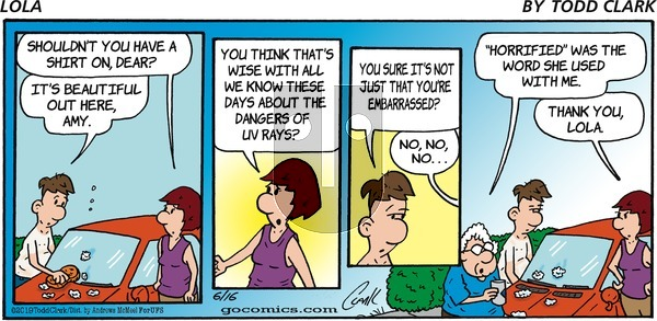 Lola on Sunday June 16, 2019 Comic Strip