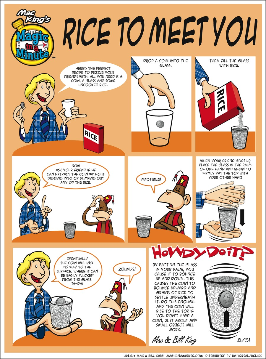 Magic in a Minute for Aug 31, 2014 Comic Strip