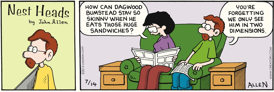 Nest Heads Comic Strip for July 14, 2013
