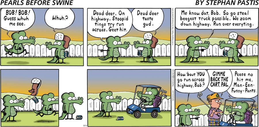 Pearls Before Swine Comic Strip for May 13, 2012