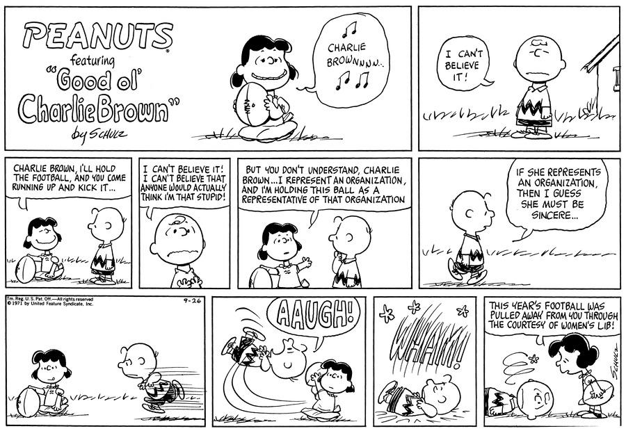 Peanuts for Sep 26, 1971 Comic Strip