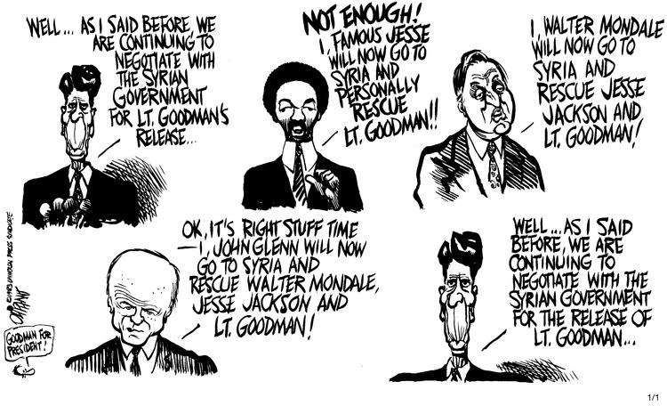 Pat Oliphant Comic Strip for January 01, 1984
