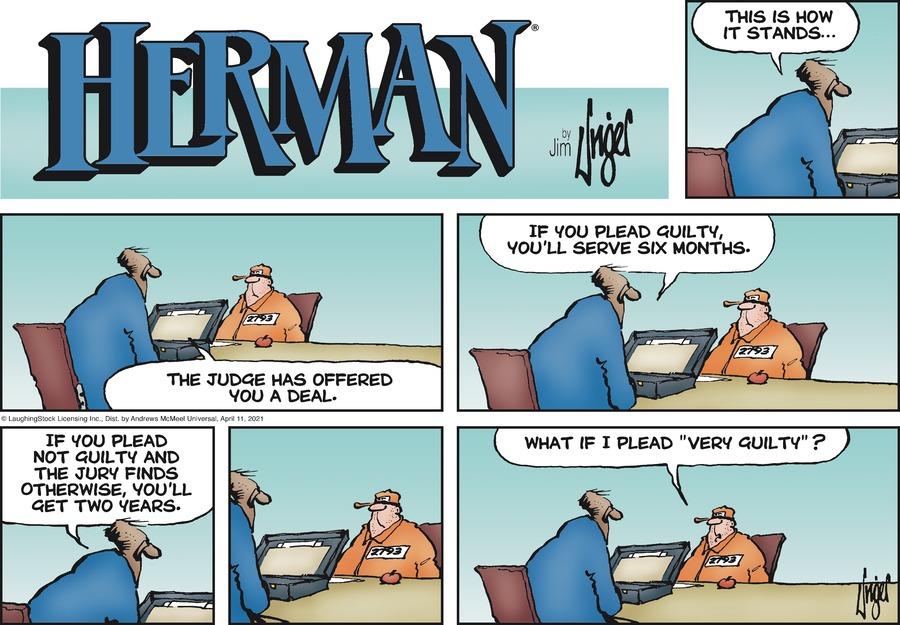 Herman Comic Strip for April 11, 2021
