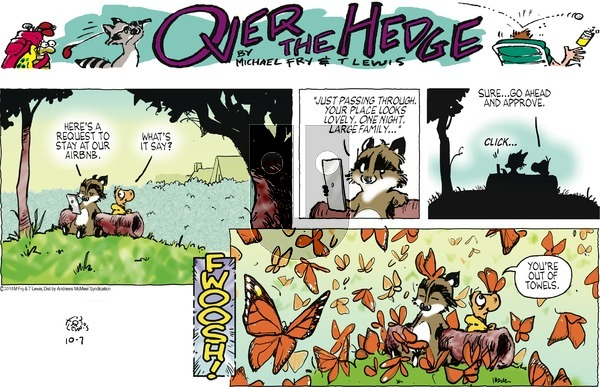 Over the Hedge on Sunday October 7, 2018 Comic Strip