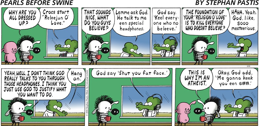 Pearls Before Swine Comic Strip for August 28, 2016