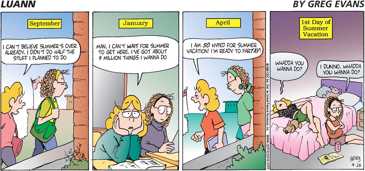 Luann Comic Strip for April 26, 1998