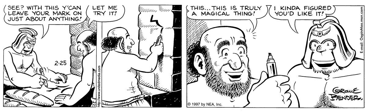 Alley Oop for Feb 25, 1997 Comic Strip