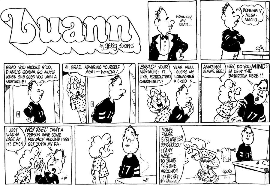 Luann Againn Comic Strip for November 11, 2018