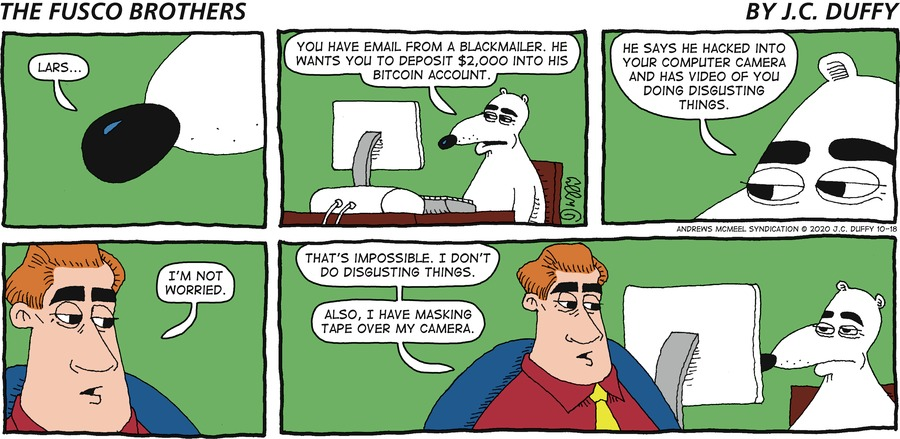 The Fusco Brothers Comic Strip for October 18, 2020