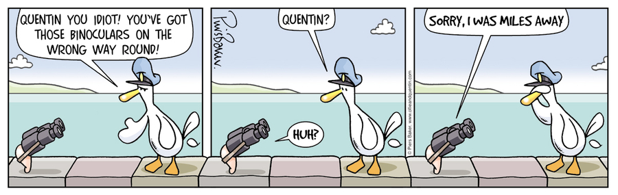 Ollie and Quentin Comic Strip for January 20, 2021