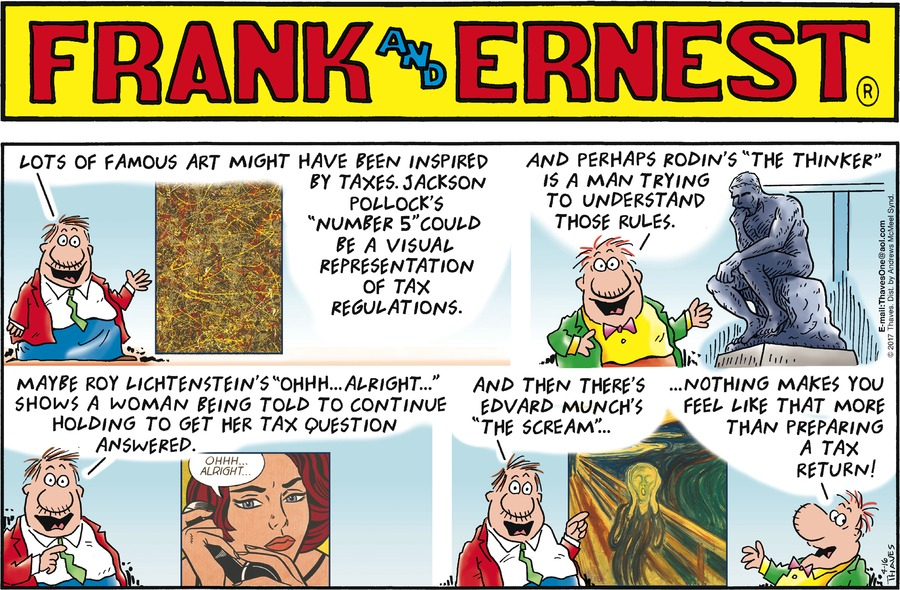 Frank and Ernest Comic Strip for April 16, 2017