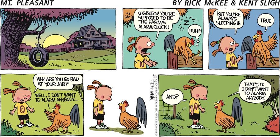 Mt. Pleasant  Comic Strip for September 19, 2021