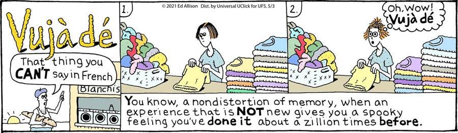 Unstrange Phenomena Comic Strip for May 03, 2021