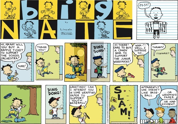 Big Nate on Sunday April 8, 2018 Comic Strip