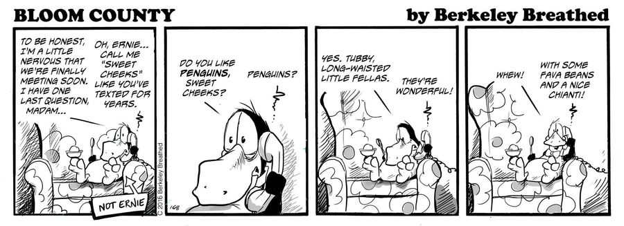 Bloom County 2019 Comic Strip for April 01, 2016
