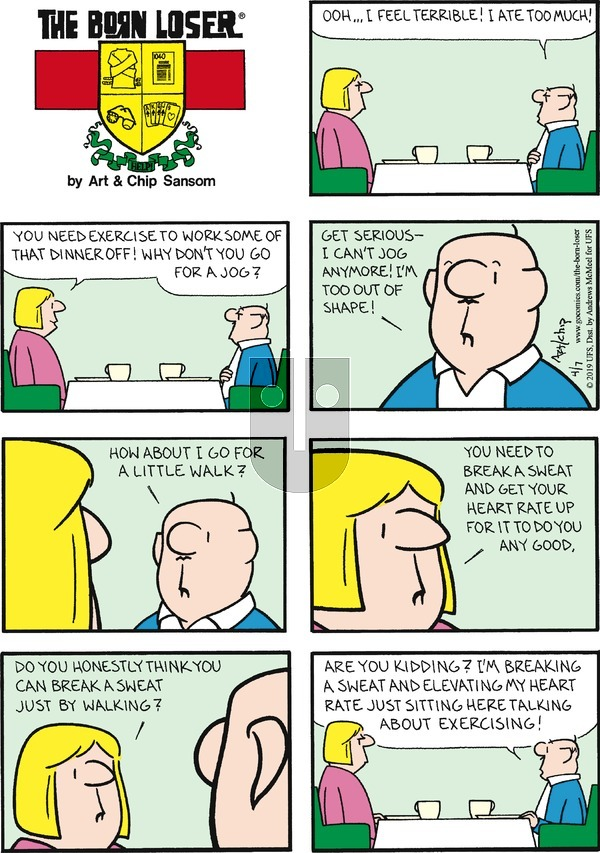 The Born Loser on Sunday April 7, 2019 Comic Strip