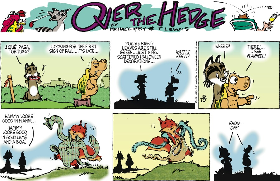 Over the Hedge by T Lewis and Michael Fry on Sun, 10 Oct 2021