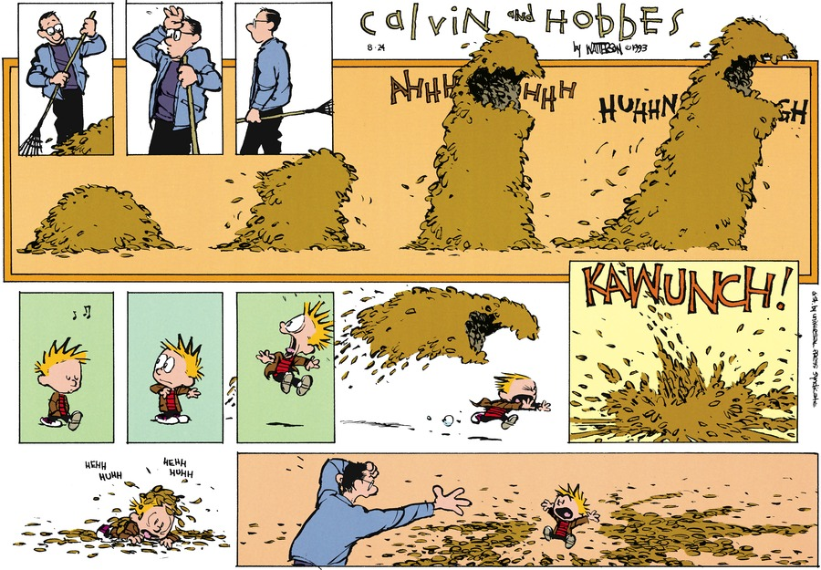 Calvin and Hobbes for Oct 10, 1993 Comic Strip