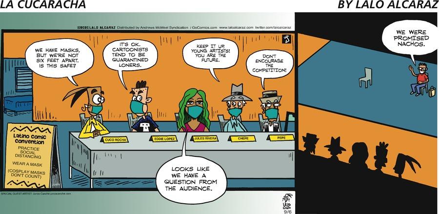 La Cucaracha Comic Strip for September 06, 2020