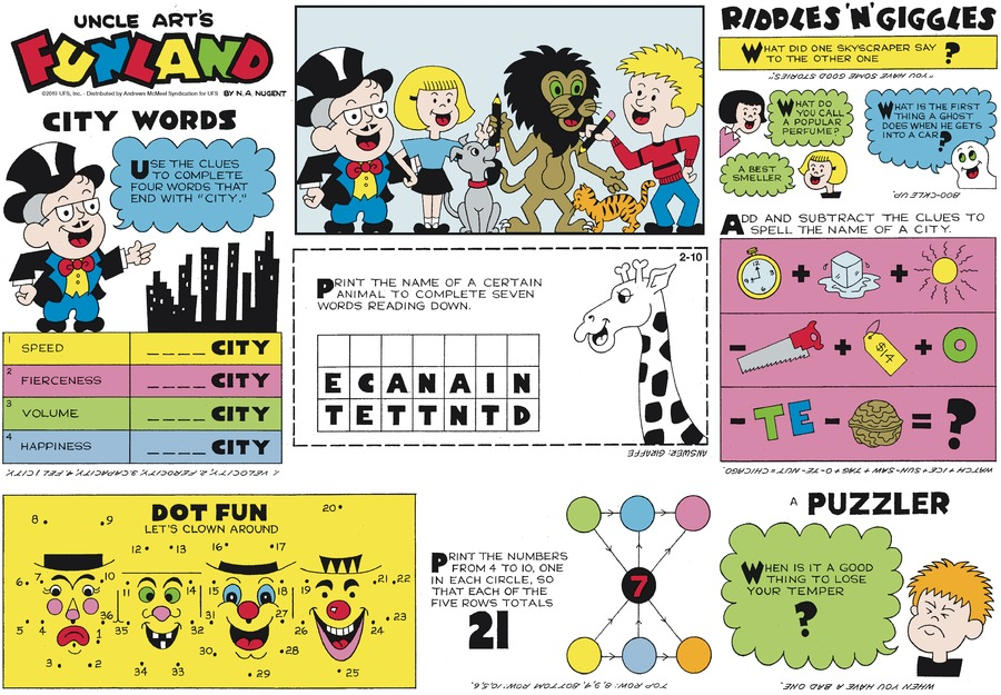 Uncle Art's Funland Comic Strip for February 10, 2019