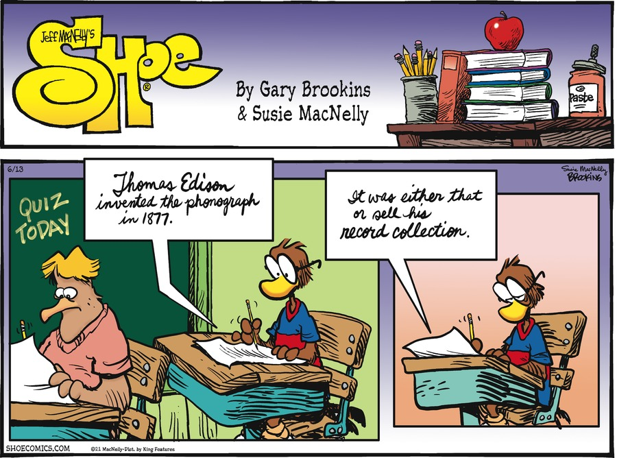 Shoe Comic Strip for June 13, 2021
