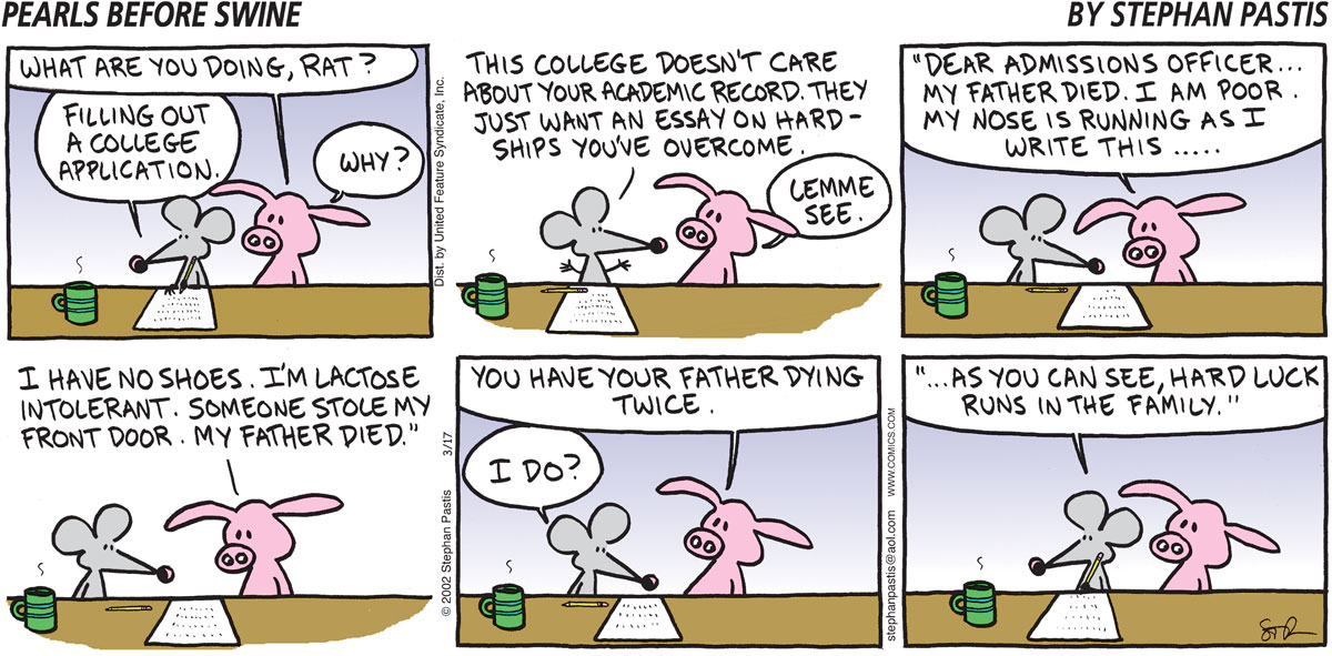 Pearls Before Swine Comic Strip for March 17, 2002