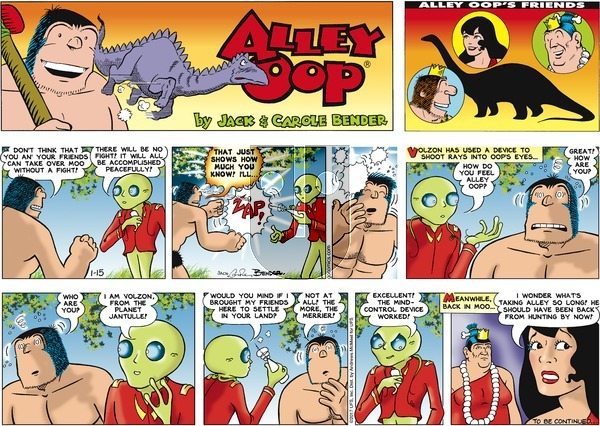 Alley Oop on Sunday January 15, 2017 Comic Strip