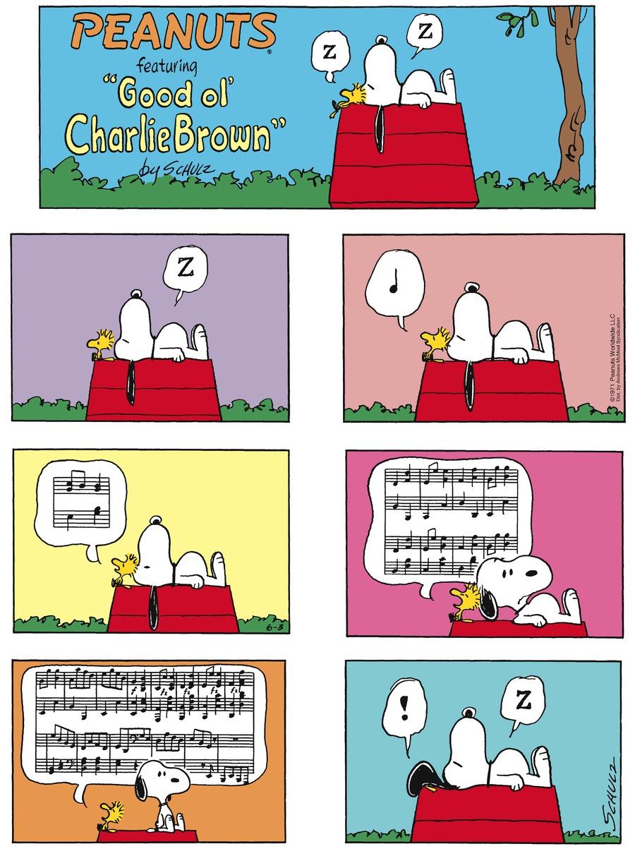 Peanuts Comic Strip for June 03, 2018