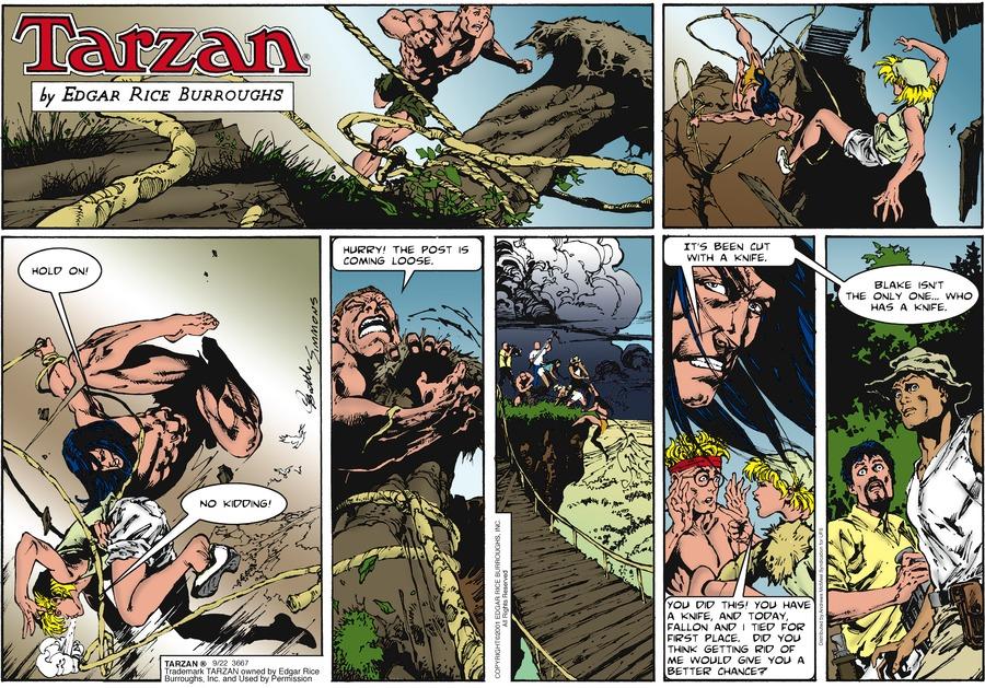 Tarzan Comic Strip for September 22, 2019