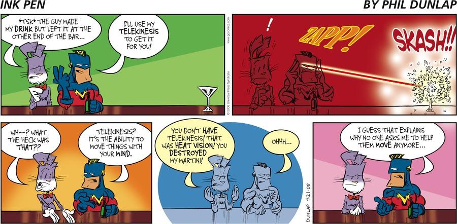 Ink Pen for Sep 21, 2008 Comic Strip