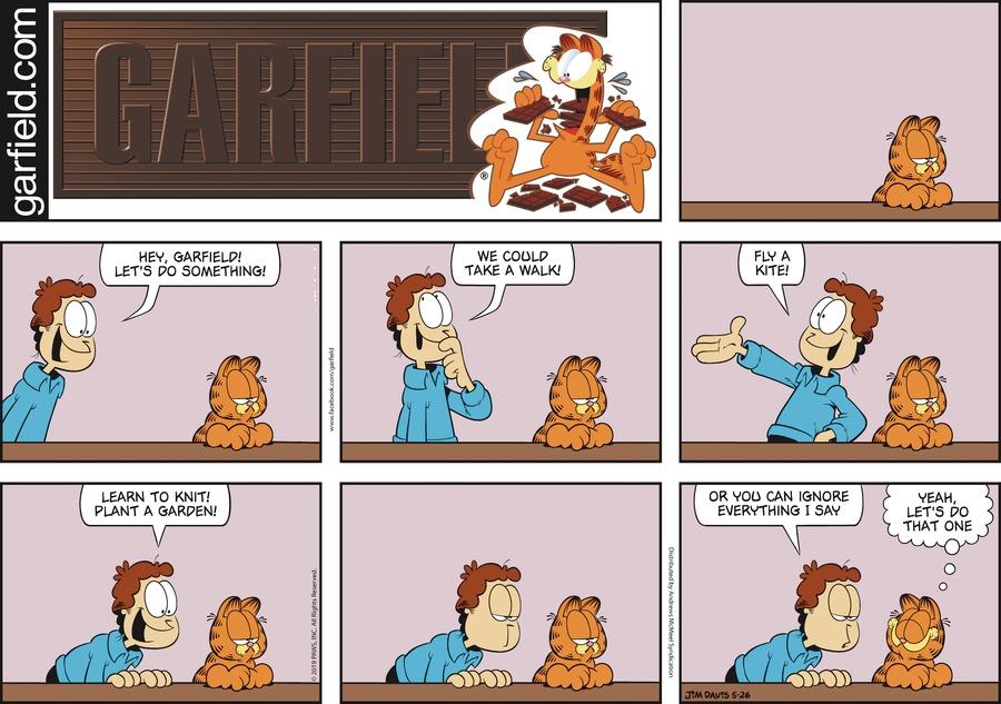 Garfield by Jim Davis for May 26, 2019