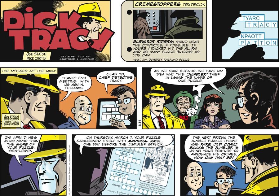 Dick Tracy Comic Strip for March 31, 2013