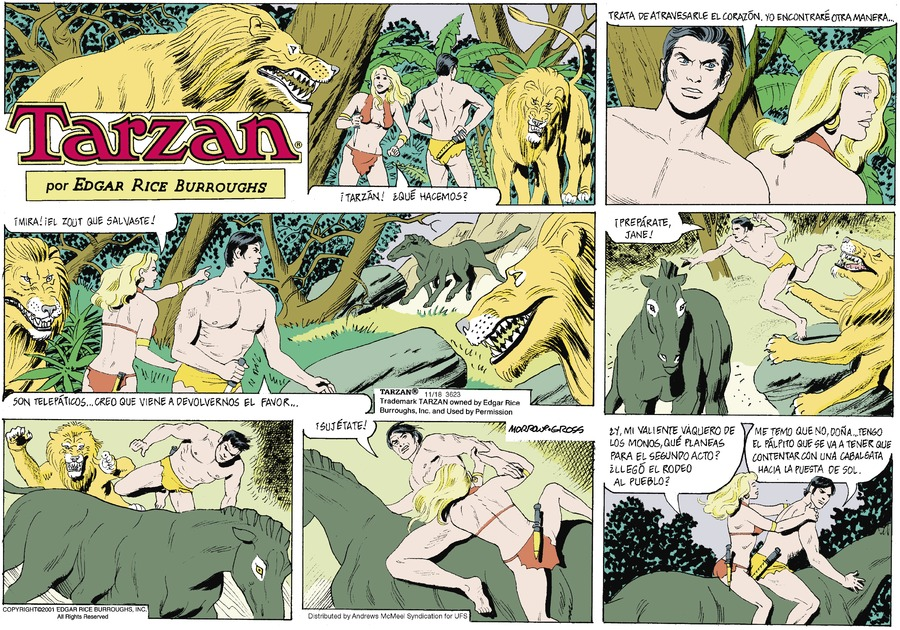 Tarzan en Español by Edgar Rice Burroughs for November 18, 2018