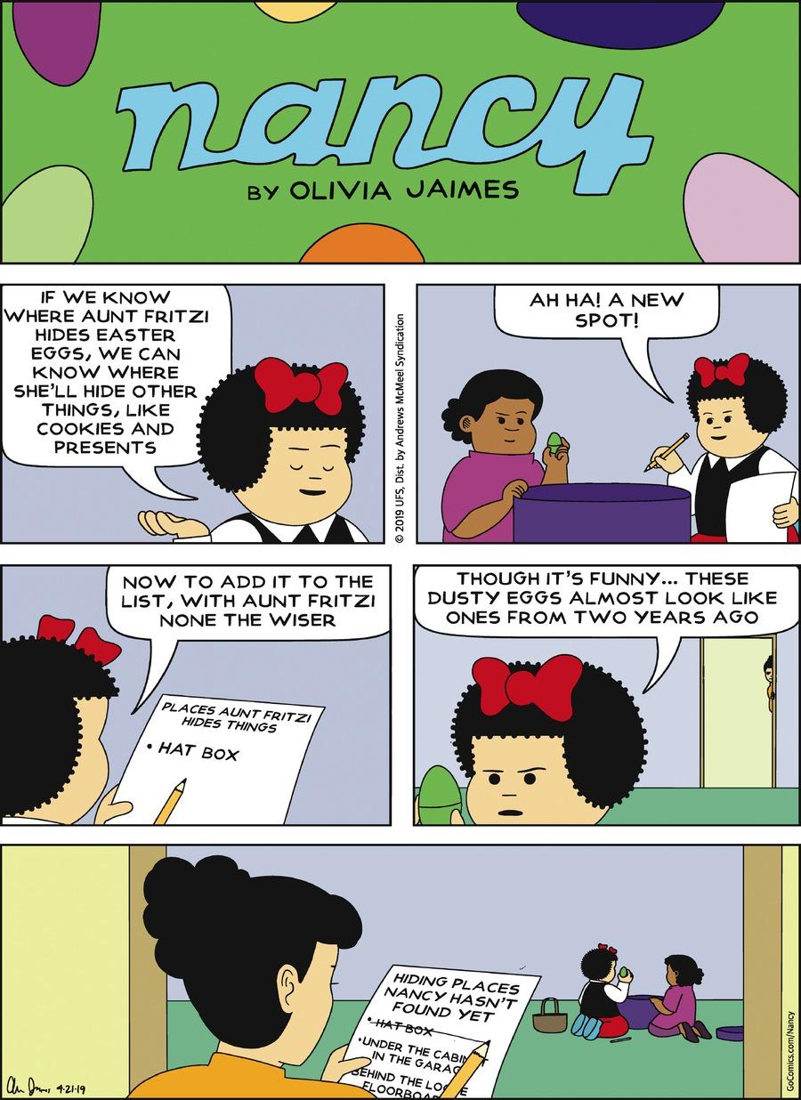 Nancy Comic Strip for April 21, 2019