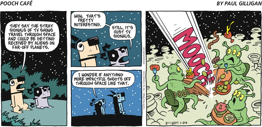 Pooch Cafe Comic Strip for January 24, 2016
