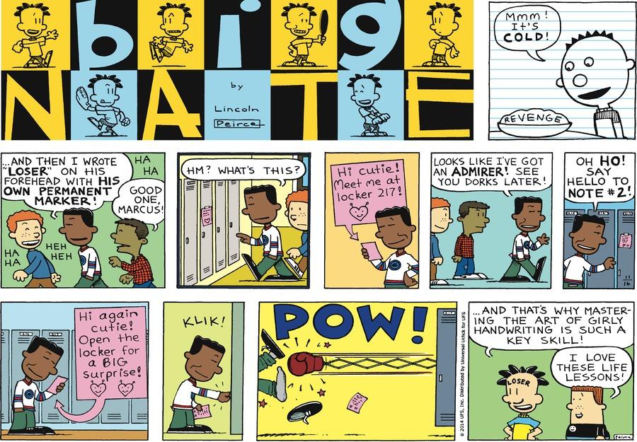Big Nate Comic Strip for November 16, 2014